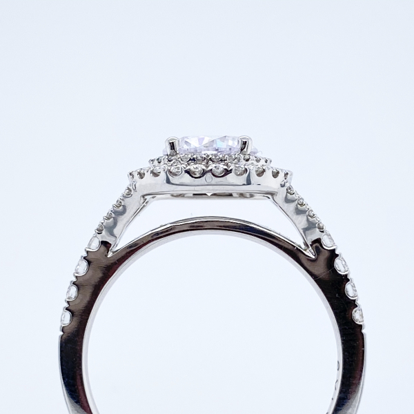 Engagement Rings - Double Halo Diamond Engagement Ring - image #2