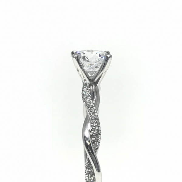 Engagement Rings - Round Twisted Semi-Mount - image #3