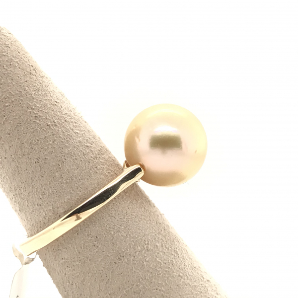 Fine Jewelry - South Sea Yellow Gold Pearl Ring - image #2