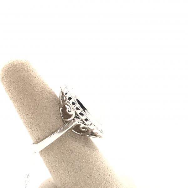 Fine Jewelry - Pearl and Diamond Ring - image #2