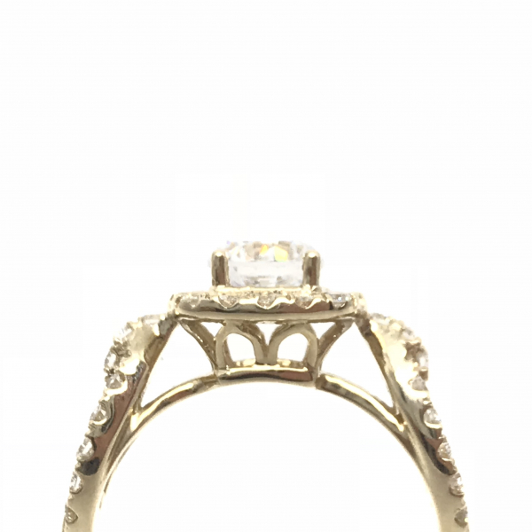 Engagement Rings - Chain Link Round Semi-Mount Ring  - image #2
