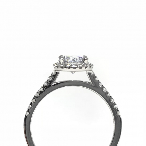 Engagement Rings - Round Halo Engagement Ring - image #2
