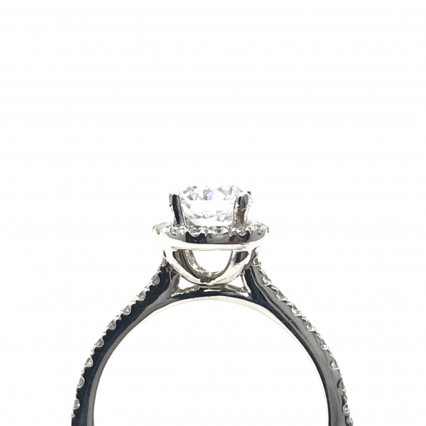Engagement Rings - Round Halo Semi-Mount  - image #3