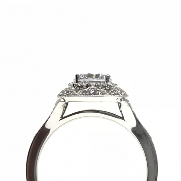 Engagement Rings - Cushion Double Halo Engagement Ring - image #2