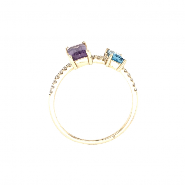 Fine Jewelry - Emerald Cut Gemstone Ring - image #2