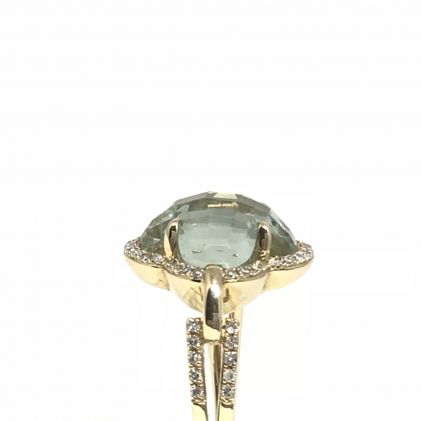 Rings - Green Amethyst Fashion Ring - image #3