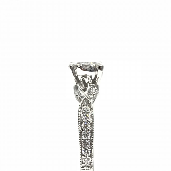 Engagement Rings - Lovebright Diamond Engagement Ring with Twisted Band - image #3
