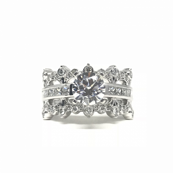 Engagement Rings - Crown Inspired Semi-Mount