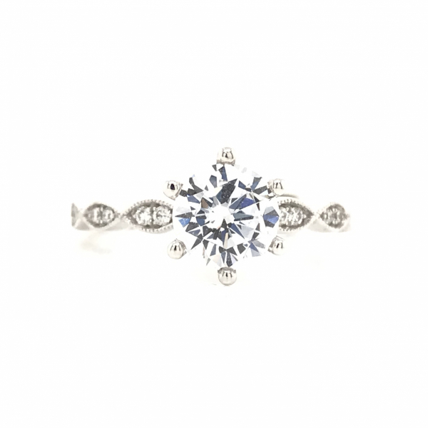 Engagement Rings - Scalloped Semi-Mount Engagement Ring