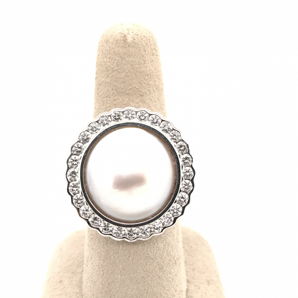 Fine Jewelry - Pearl and Diamond Ring