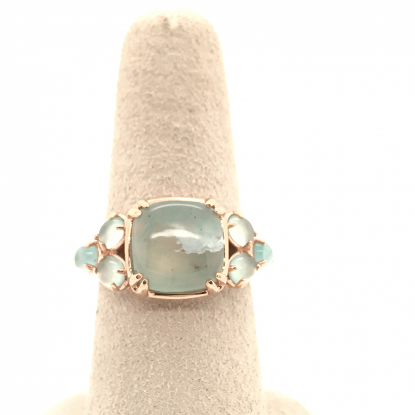 Fine Jewelry - Cluster Aquaprase LeVian Ring