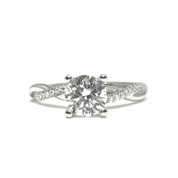 Engagement Rings - Round Twisted Semi-Mount