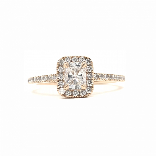 Engagement Rings - Radiant Halo Engagement Ring