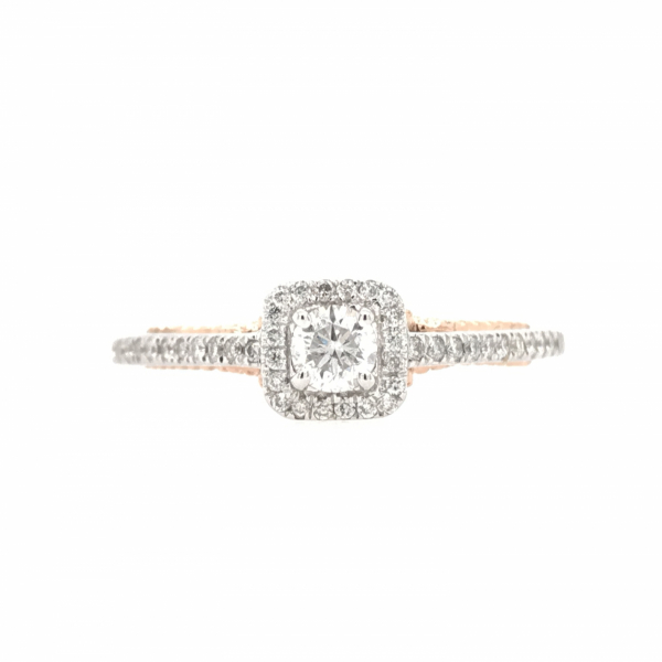 Engagement Rings - Round Center with Princess Halo Enagagement Ring