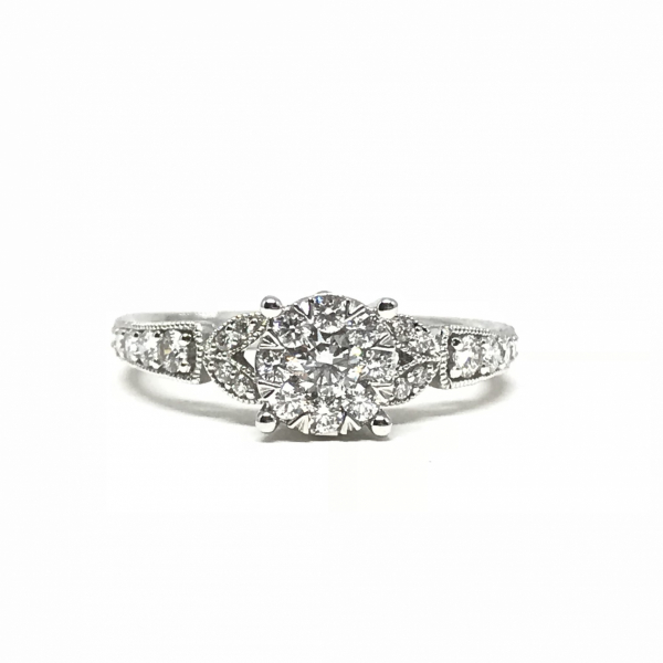 Engagement Rings - Lovebright Diamond Engagement Ring